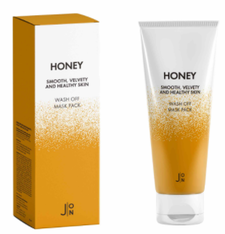 J:ON Маска для лица Мед Honey Smooth Velvety and Healthy Skin Wash Off Mask Pack